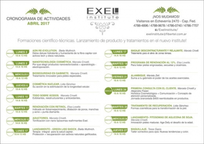 Exel Institute Central: actividades de abril